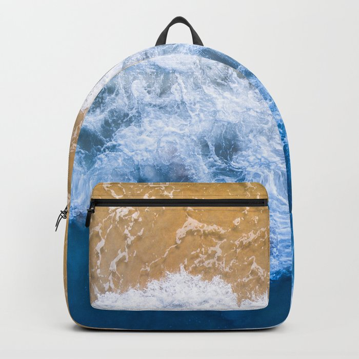 Ocean blue sand brown Backpack