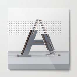 Abstract Letter A Metal Print