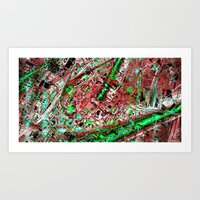 los angeles Art Prints featuring los angeles by donphil
