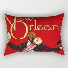 1976 New Orleans Jazz Festival Advertising Gig Poster Rectangular Pillow