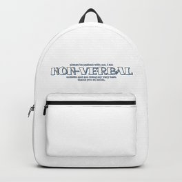 Non-Verbal Autistic Backpack