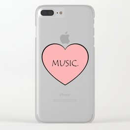 Music. Clear iPhone Case