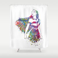 pocahontas Shower Curtains featuring Princess Pocahontas by Bitter Moon