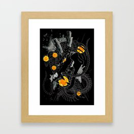 Death Crew Black Edition - Shenron Framed Art Print