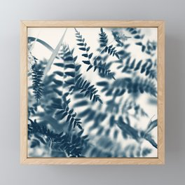 Royal Palm In Blue #2 Framed Mini Art Print