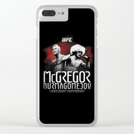 McGregor vs Nurmagomedov (UFC) Clear iPhone Case