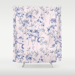 exotic blue Shower Curtain