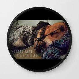 Puppy Love Wall Clock