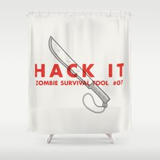 Hack it - Zombie Survival Tools Shower Curtain