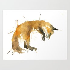 Sleepy Fox Art Print