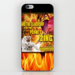 Board the Flavorship for the Planet Zing iPhone Skin