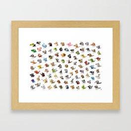 Marathon Animals Framed Art Print