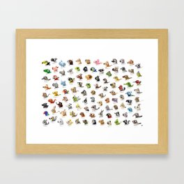 Marathon Animals Framed Art Print