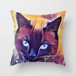 Here Kitty Kitty Kitty Throw Pillow