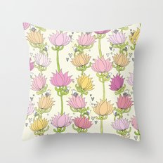 Lotsa Lotus Love Throw Pillow