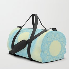 Blue heart mandala Duffle Bag