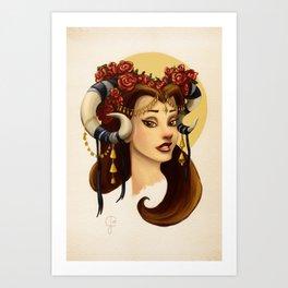 Tribal Princess Belle Art Print