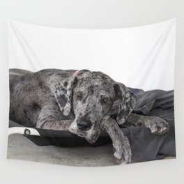 Great Dane waiting Wall Tapestry