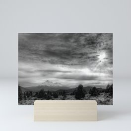 Mt Shasta in B & W Mini Art Print