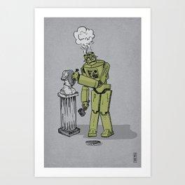 Sculpture is for Humans Art Print