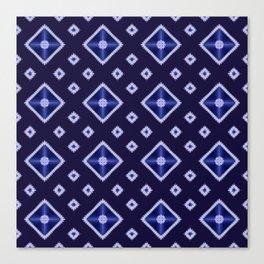 Blue Diamond Pattern Canvas Print