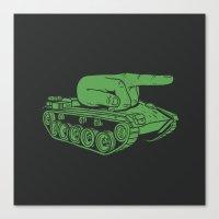 war Canvas Prints featuring @#$% WAR! by Madkobra