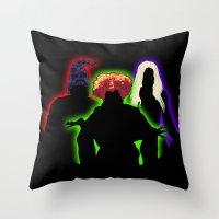 hocus pocus Throw Pillows featuring Hocus Pocus by Brieana