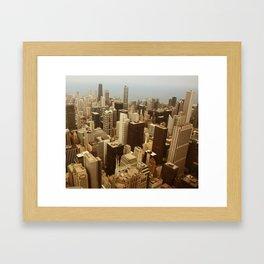 Chicago Roofs Framed Art Print