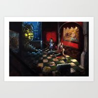 bioshock Art Prints featuring Bioshock by Michele Giorgi