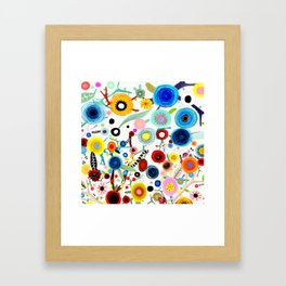 Rupydetequila whimsical floral art 2018 Framed Art Print