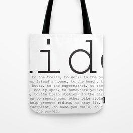 Ride To... Tote Bag