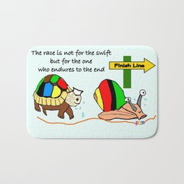 THE RACE - the turtle and the snail Bath Mat
