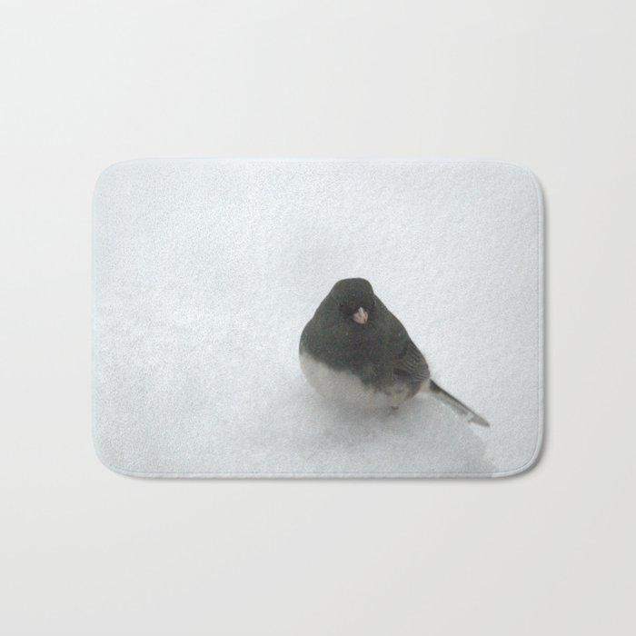 Snow Bird (Dark-eyed Junco) Bath Mat