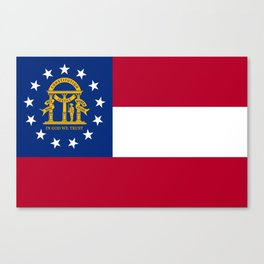 flag of the state of Georgia-Georgian,Gone with the wind,Atlanta,Colombus,Macon,Scarlett o'Hara,Usa Canvas Print
