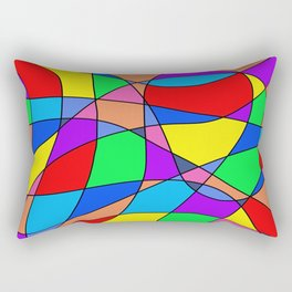 Colourful Squares Rectangular Pillow