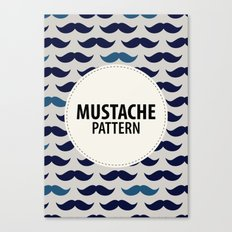 MUSTACHE PATTERN Canvas Print