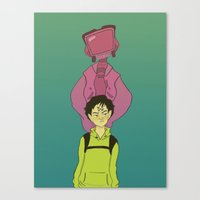 flcl Canvas Prints featuring FLCL by tinyenemies