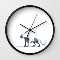 panther Wall Clocks featuring panther by julvas