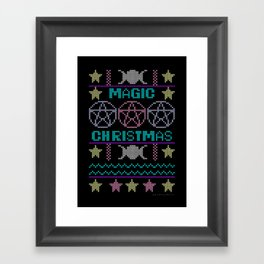 Ugly sweater Magic Christmas Framed Art Print