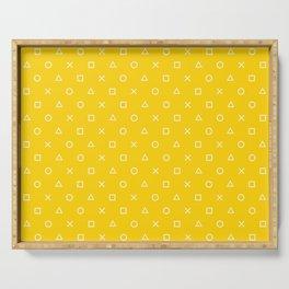 Yellow Gamer Pattern Serving Tray