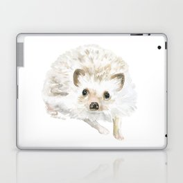 Watercolor Hedgehog Painting - Woodland Animal Art Laptop & iPad Skin