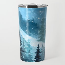 Winter Night Travel Mug