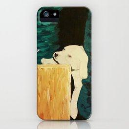 sleepy puppy iPhone Case