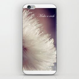 Fluffy white iPhone Skin