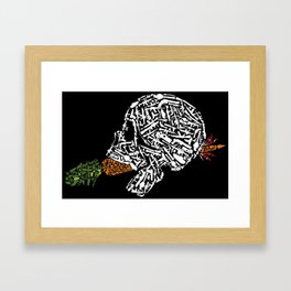 Eat Your Vegetables Framed Art Print
