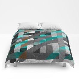 Line Tiles Textured Comforters