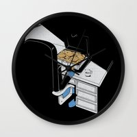 gangster Wall Clocks featuring Cookie Gangster by Piopio