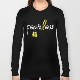 Sarcoma Fearless Shirt - Sarcoma Awareness Tee Long Sleeve T-shirt