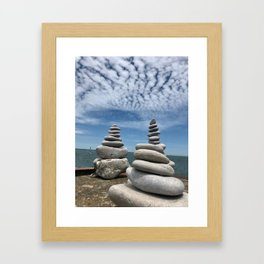 """Rocks and Sky"" Photography by Willowcatdesigns Framed Art Print"