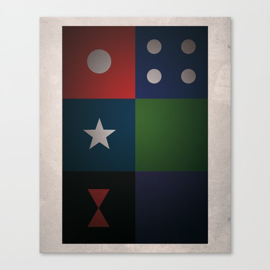 SMOOTH MINIMALISM - Avengers Canvas Print
